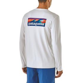 Patagonia M's R0 Sun LS Tee Boardshort Logo: White
